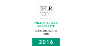 IFLR 1000 Financial and Recommended Firm 2016
